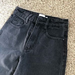 Faded Black Mom Jeans